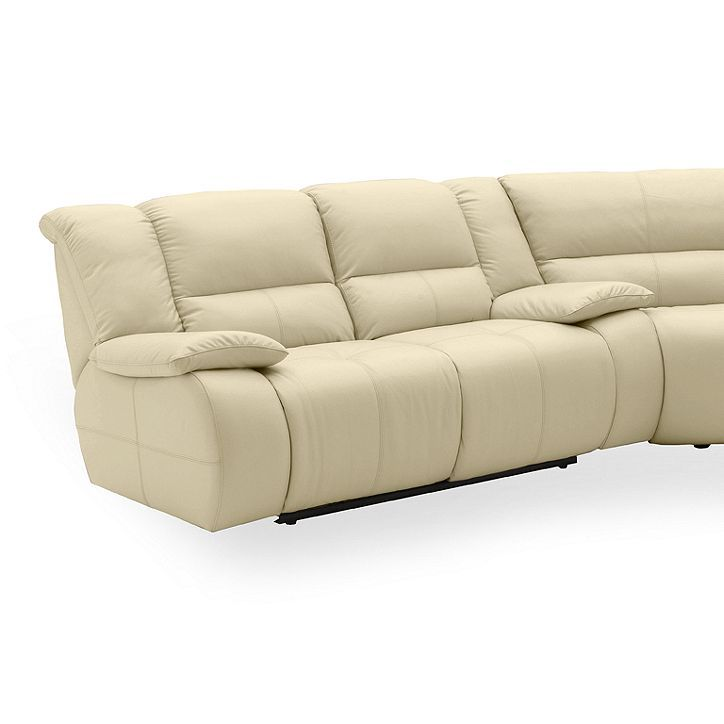 Leather Sectional Sofa With 3 Power Recliners: Franco Leather Reclining Sectional Sofa, 3 Piece Power