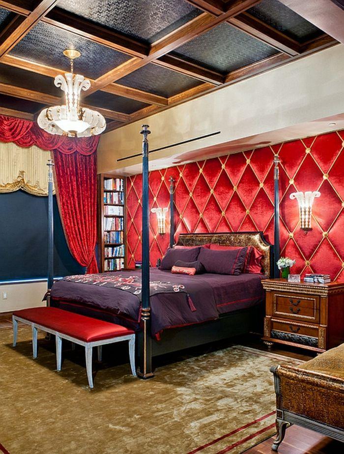 Schlafzimmer Design Rot Lila