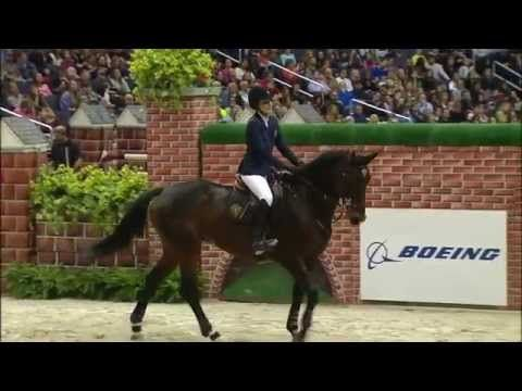 Jessica Springsteen and Lisona Winning the $25,000 Puissance at 2014 WIHS - YouTube