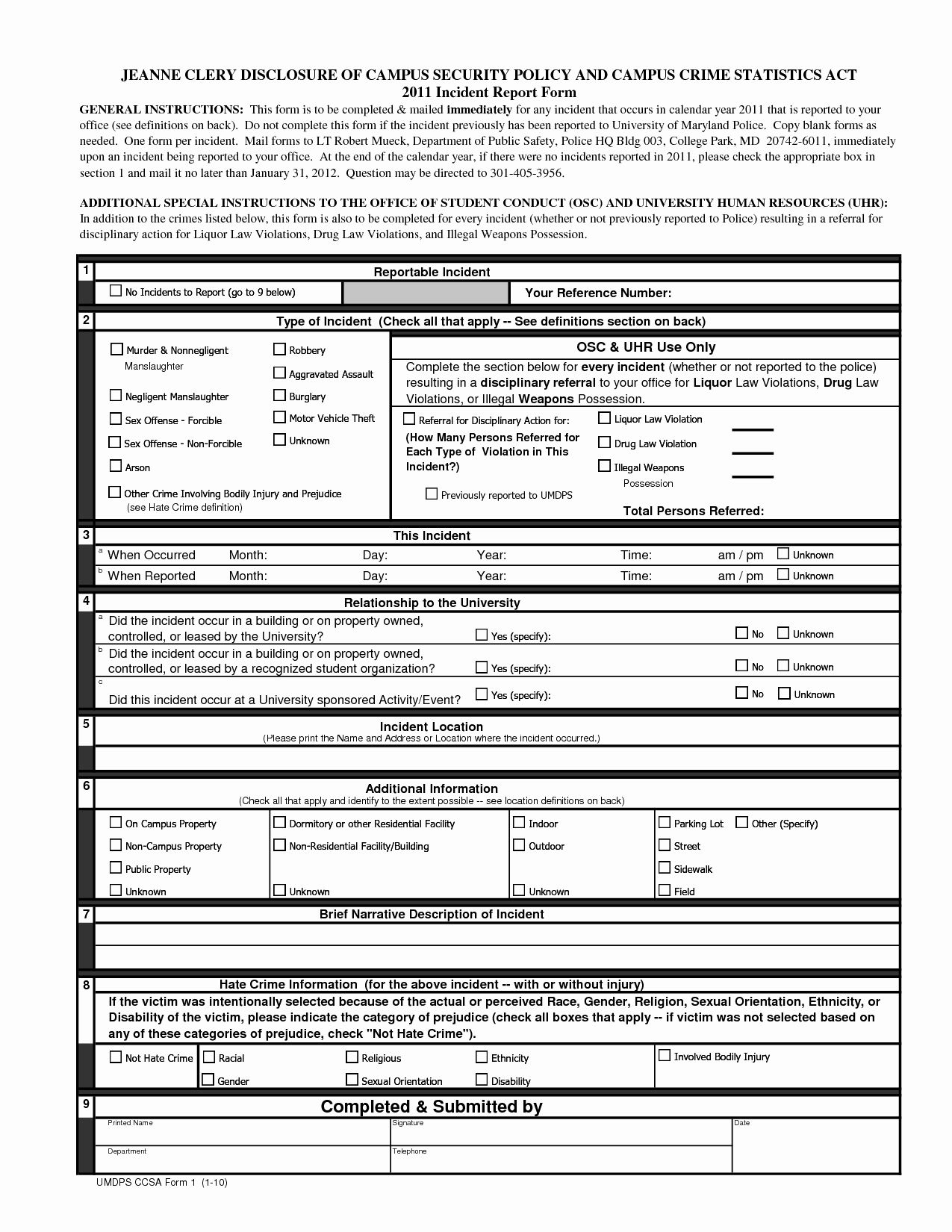 Blank Incident Report Form Awesome Best S Of Blank