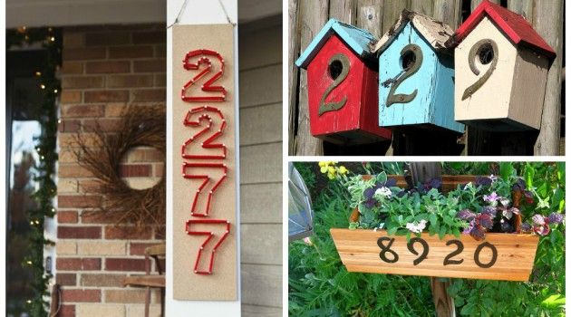 Hand Made House Number Sign House Ideas Pinterest House - Best creative house number ideas