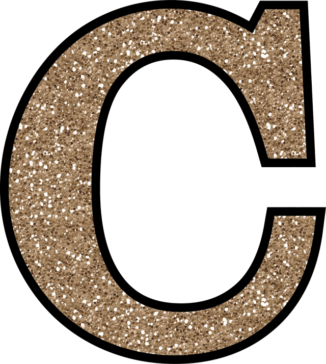 glitter without the glue free digital printable alphabet With glitter letter c