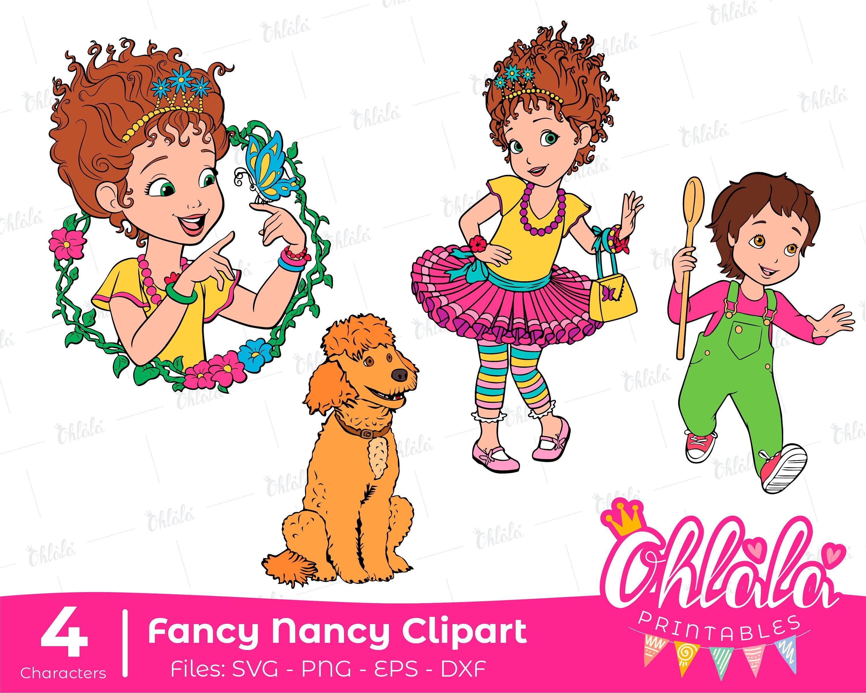 Characters Fancy Nancy Clancy Svg Png Eps Dxf Clipart Jojo Oh La La Frenchy Disney Fancy Nancy Fancy Svg De Printablesohla Fancy Nancy Fancy Nancy Clancy Fancy
