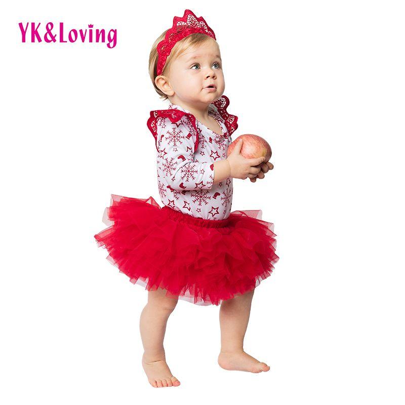 US Girls Baby Christmas Outfits Tops Polka Dot Pants Tutu Skirt Party Costumes