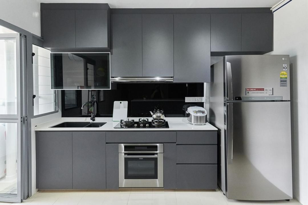 check out this modern style hdb kitchen and other similar styles on qanvast kitchen interior on kitchen ideas singapore id=17864