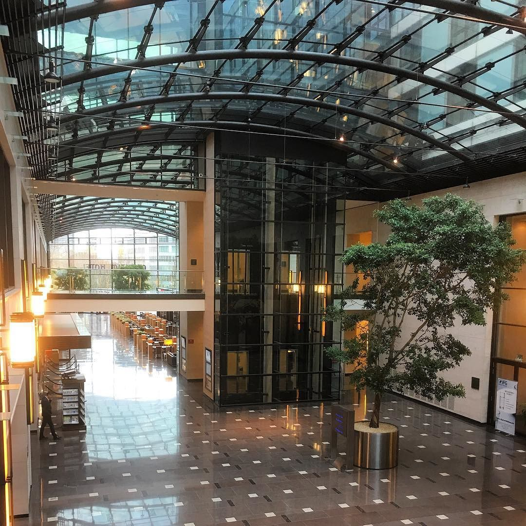 The high tech architecture of the Maritim Hotel at