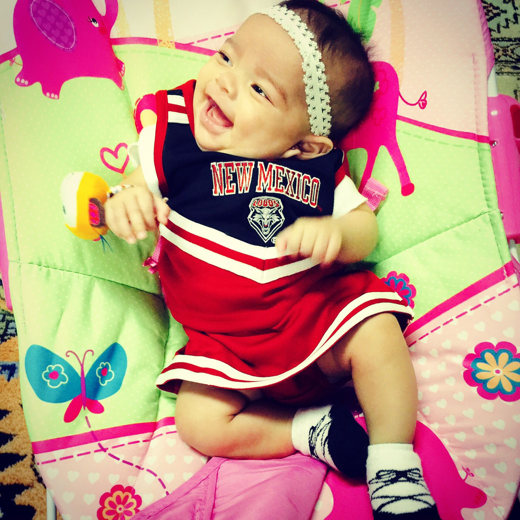 Unm Lobos Cheer Uniform With Images Cheer Uniform Baby Face