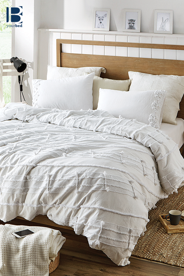 Extra Soft Cotton Oversized King Duvet Cover With Stylish White Color And Textured Detailing Textured Duvet Cover King Duvet Cover Duvet Covers
