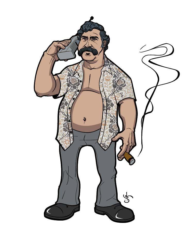 Pablo Escobar By Jason Kuczek Desenhos