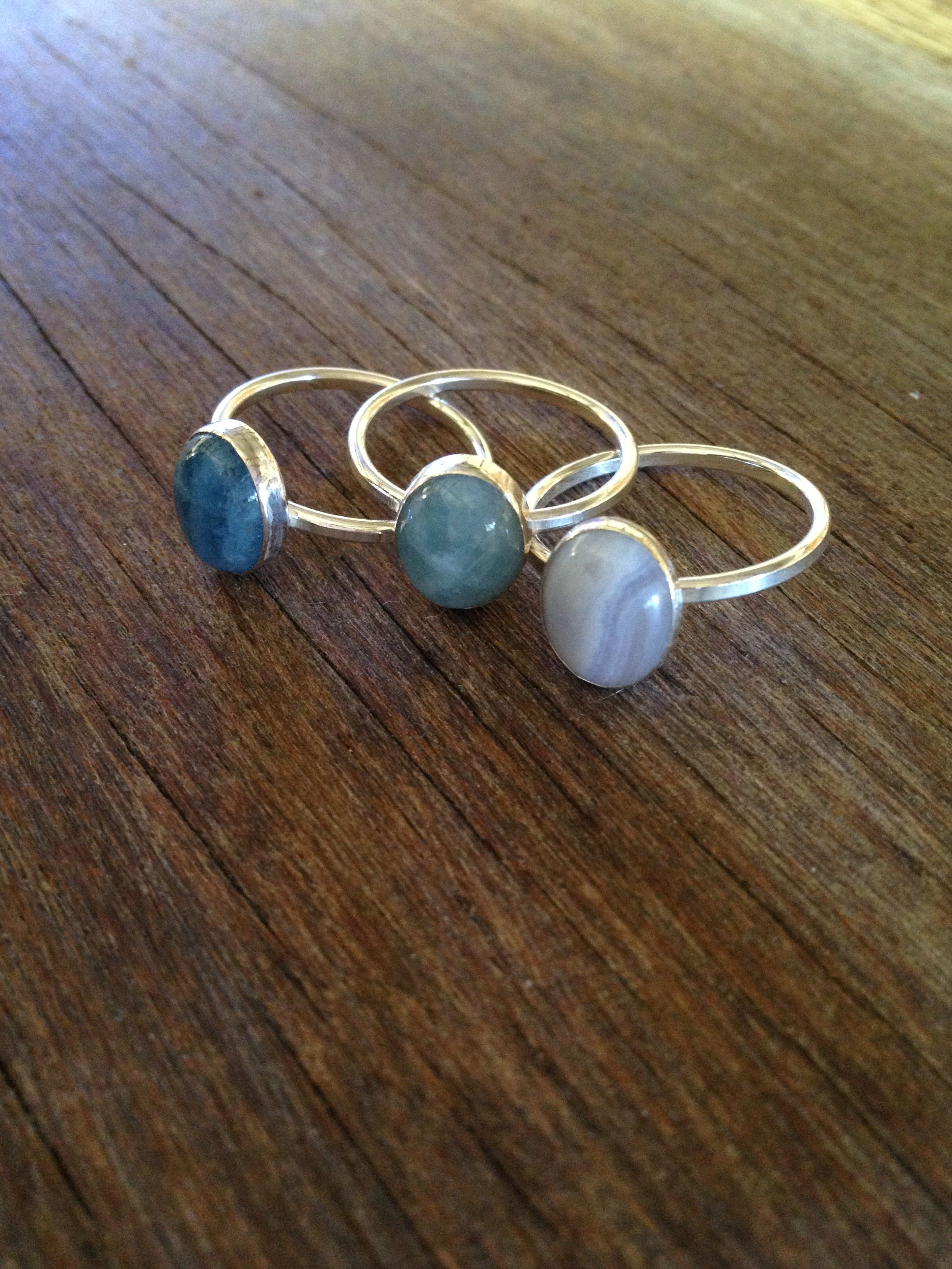 chalcedony turquoise and agate rybakoff vermeil sea cynthia rings pin green blue