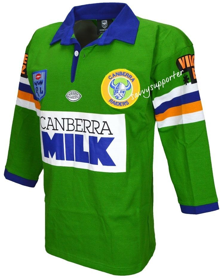 a917336bf40 Canberra Raiders 1994 NRL Retro Jersey 'Select Size' S 5XL BNWT | eBay