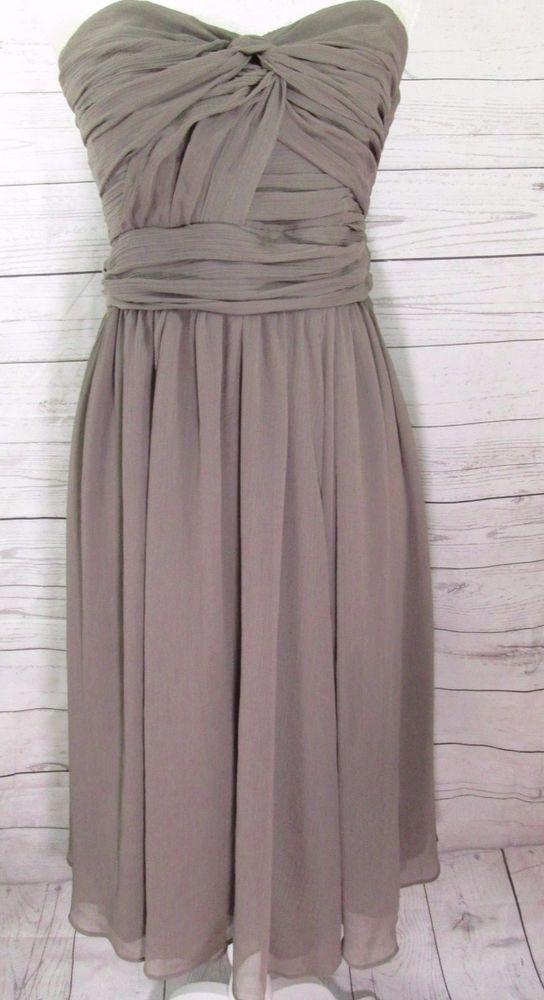46cca2890b97 H M strapless Taupe Light Brown dress wedding guest semi formal formal Size  12  HM  EmpireWaist  Formal