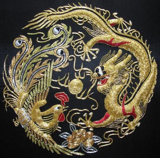 silk embroidery by hand hand made solid silk embroidery on great wall chinese restaurant id=79767