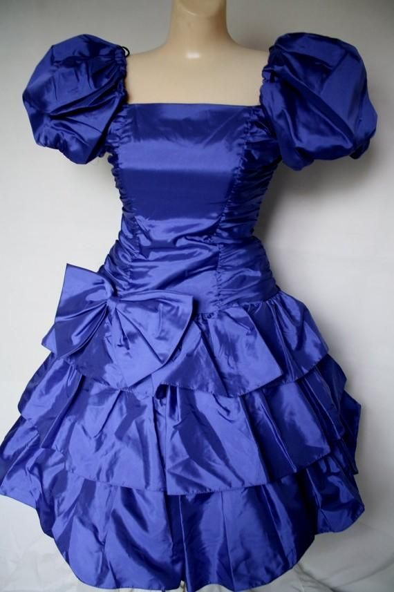80s prom dress with purple sequin ruffle from hookedonhoney on 80s ...