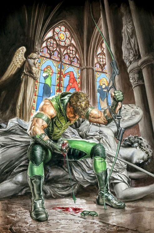 green arrow, mauro cascioli, dc comics, art illustration