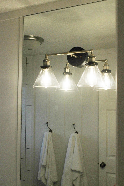How To Mount A Light On Top Of A Mirror Bathroom Vanity Bathroom Led Light Fixtures Bathroom Mirror Lights Bathroom Lights Over Mirror