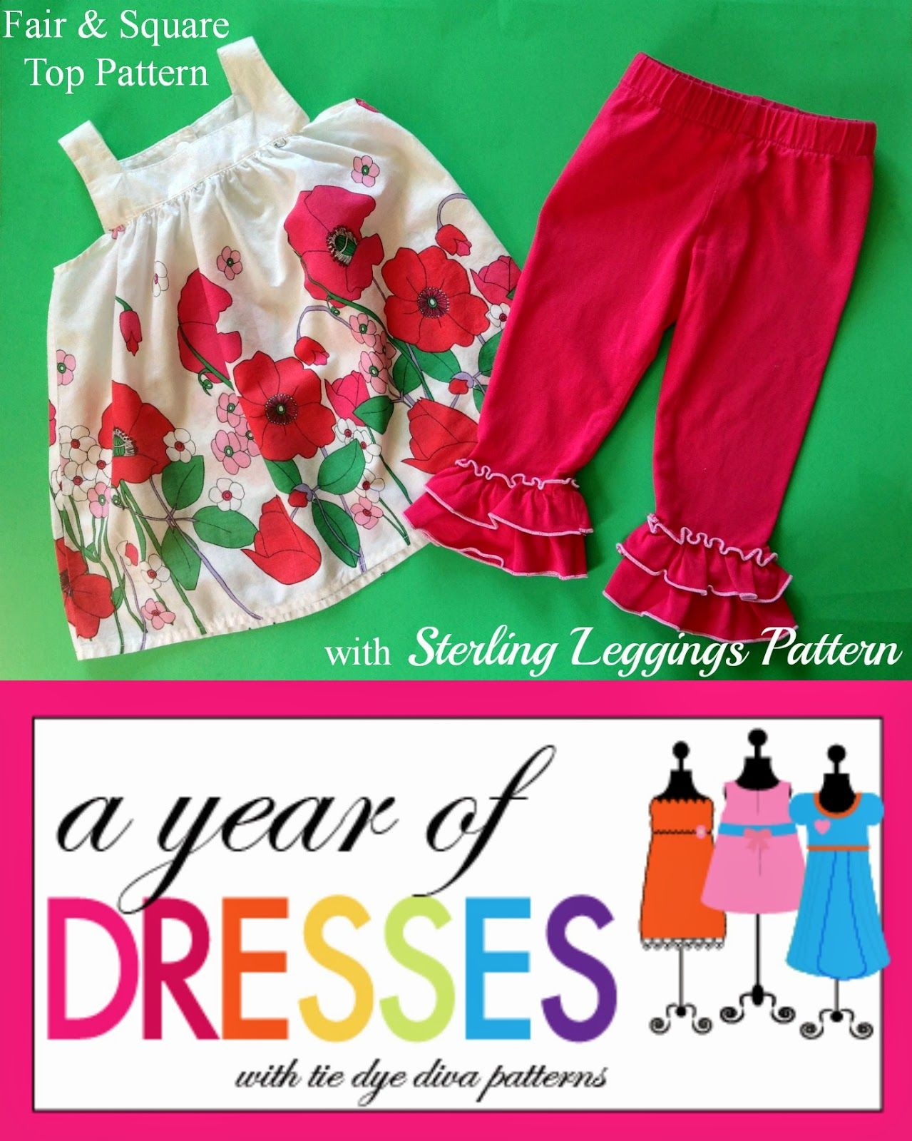 A Year of Dresses: Fair and Square Top with Sterling Leggings