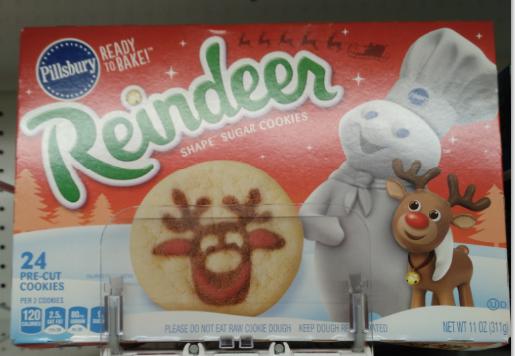 Pillsbury Reindeer Sugar Cookies Dairy Cookies Rolls