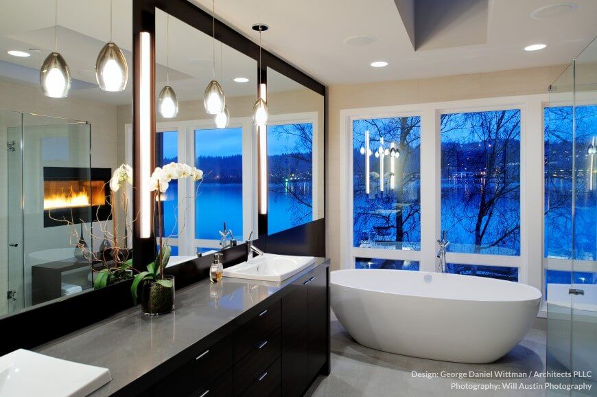 34 Large Luxury Primary Bathrooms That Cost A Fortune In 2020 In 2020 Contemporary Master Bathroom Contemporary Bathrooms Modern Master Bathroom