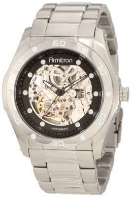 70d40649cf3 Relógio Armitron Men s 204406SVSV Automatic Silver-Tone Round Black Dial  Dress Watch  Relógio  Armitron