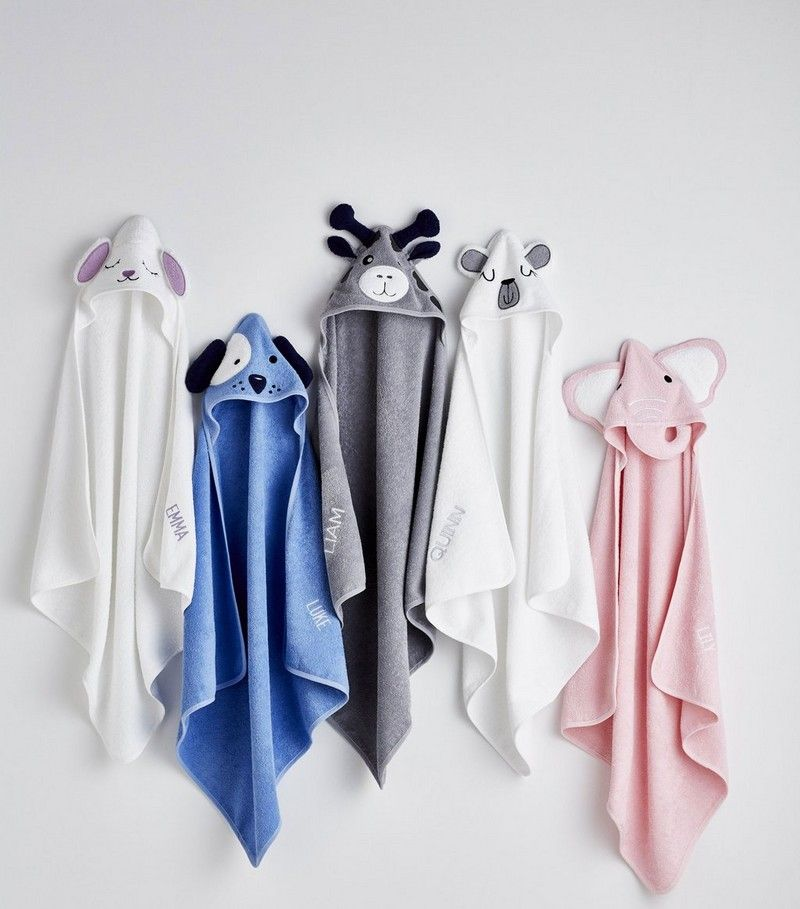 Hooded Towels LAMB and Name of choice Embroidered onto Towels Bath Robes