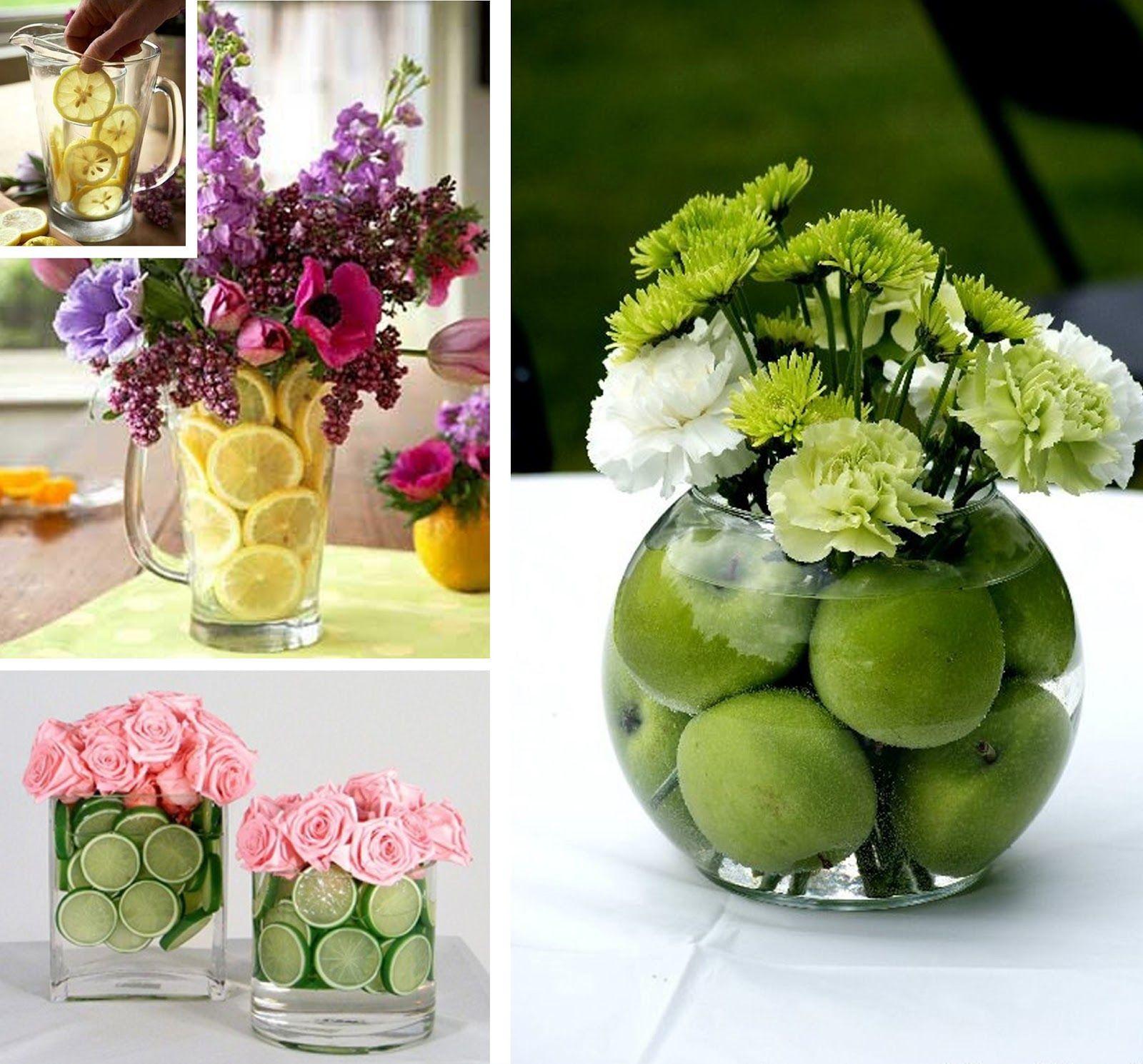 Jarron con limones como decorar una primera comunion - Centros de mesa con limones ...