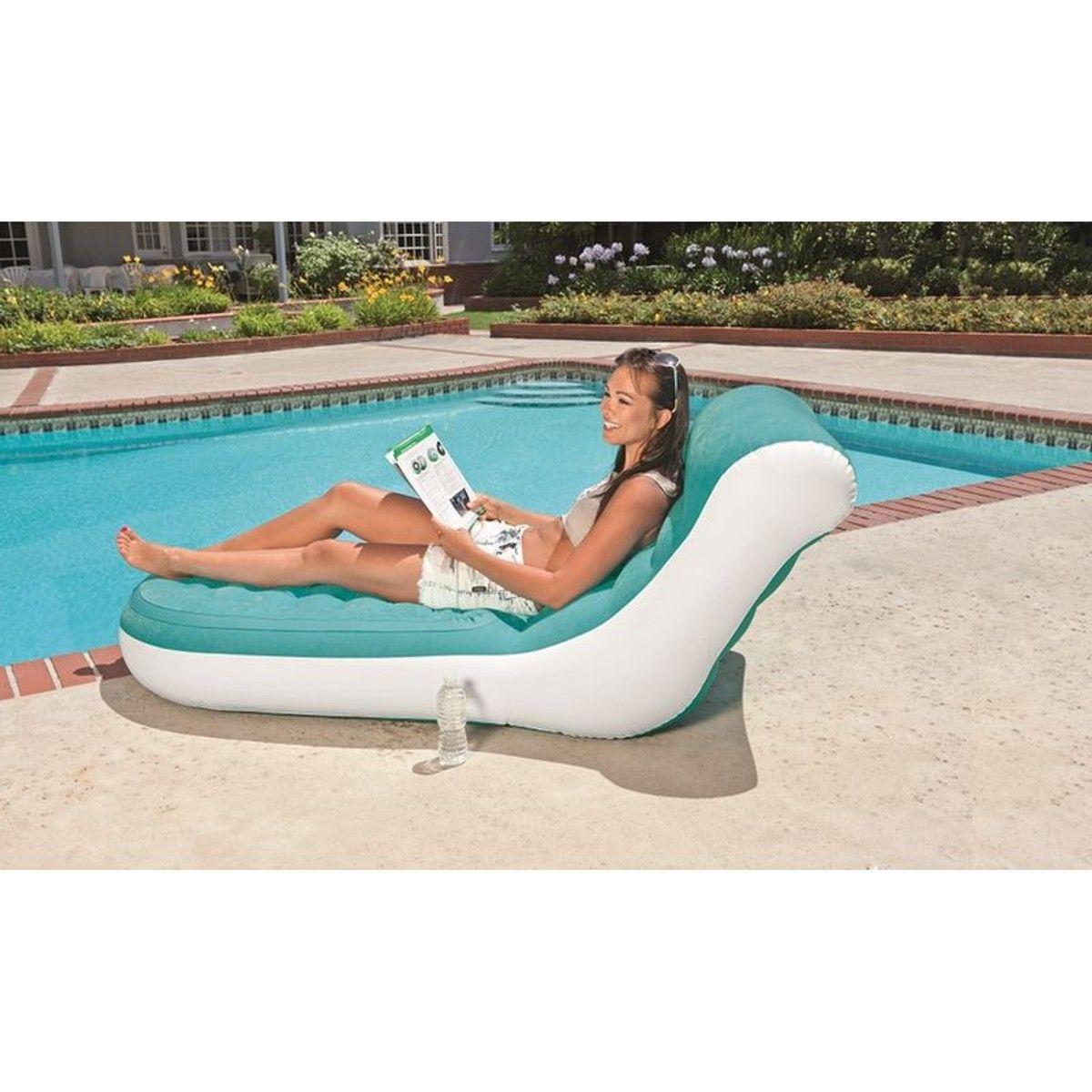 Intex Lounge Floating Comfort Matelas Gonflable Flotteur Piscine Fauteuil Chaise Longue