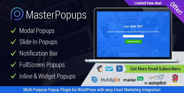 Master Popups v1.1.4 Popup Plugin for Lead Generation   Web graphics ...