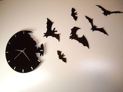 Besondere modern wanduhr in fledermaus desing bat cave wanduhren modern wanduhren uhren - Besondere wanduhren ...
