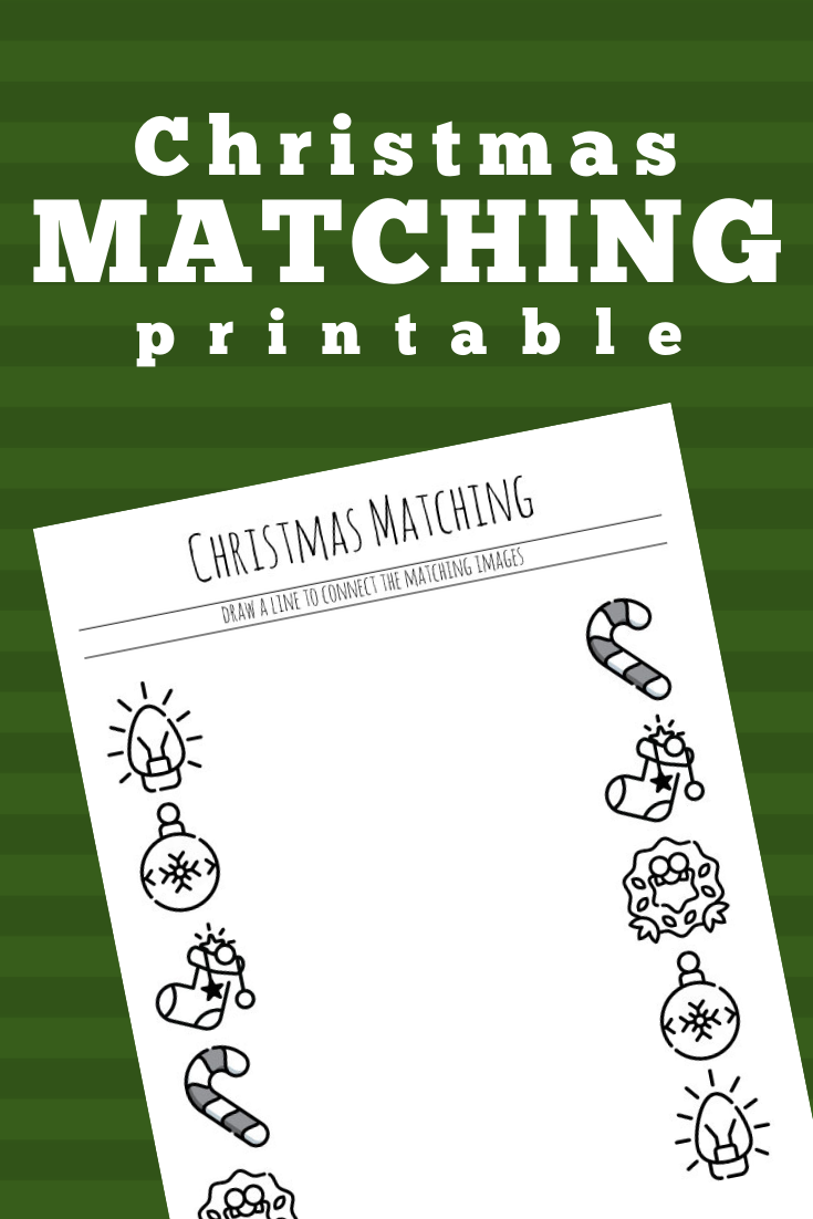 Christmas Matching Printable for Preschool Teaching kids