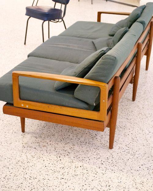 Mid Century Sofa Terrazzo Floors