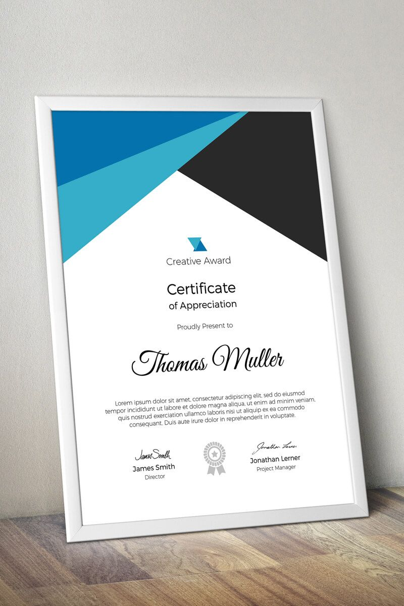 Creative Award Certificate Template Award Creative Template
