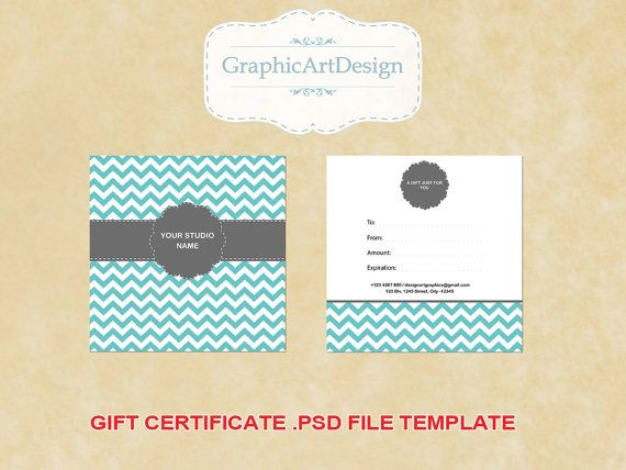 Photography Gift Certificate Psd Template X By Graphicartdesign