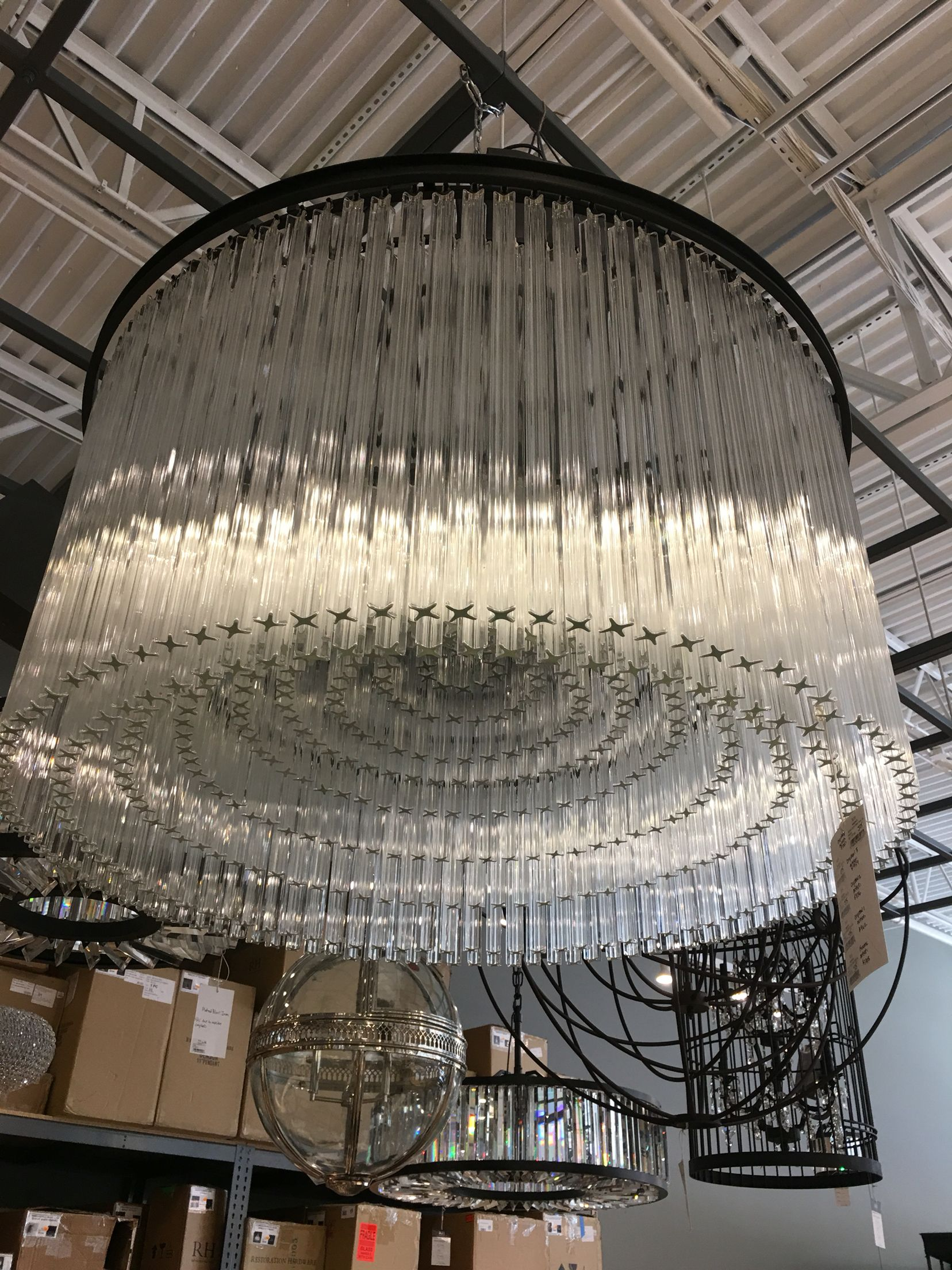 "Restoration Hardware 40"" Astor Crystal Chandelier $3147 sale"
