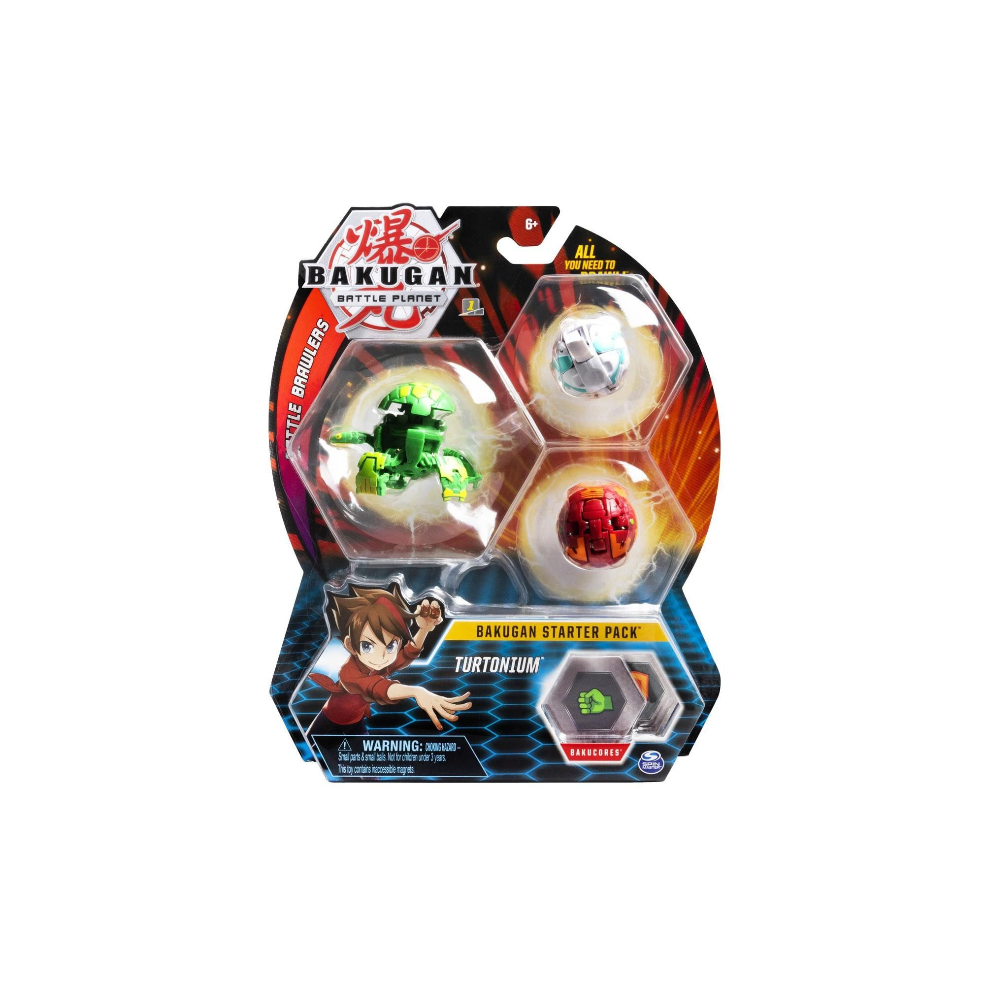 Bakugan Starter Pack 3-Pack Collectible Transforming Creatures for Ages 6 and Up Serpenteze