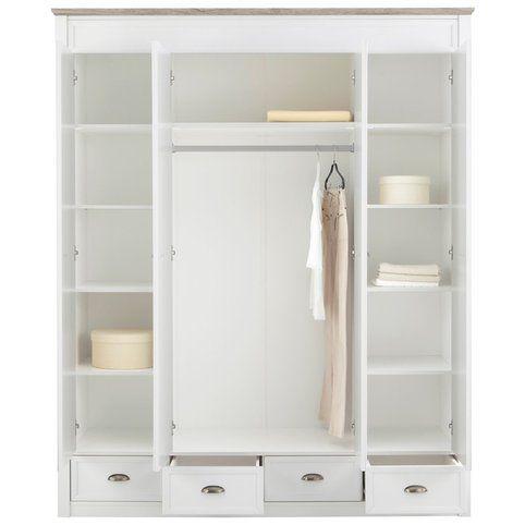 Armoire-penderie lingère 5 portes + miroirs + 5 tiroirs Home Affaire