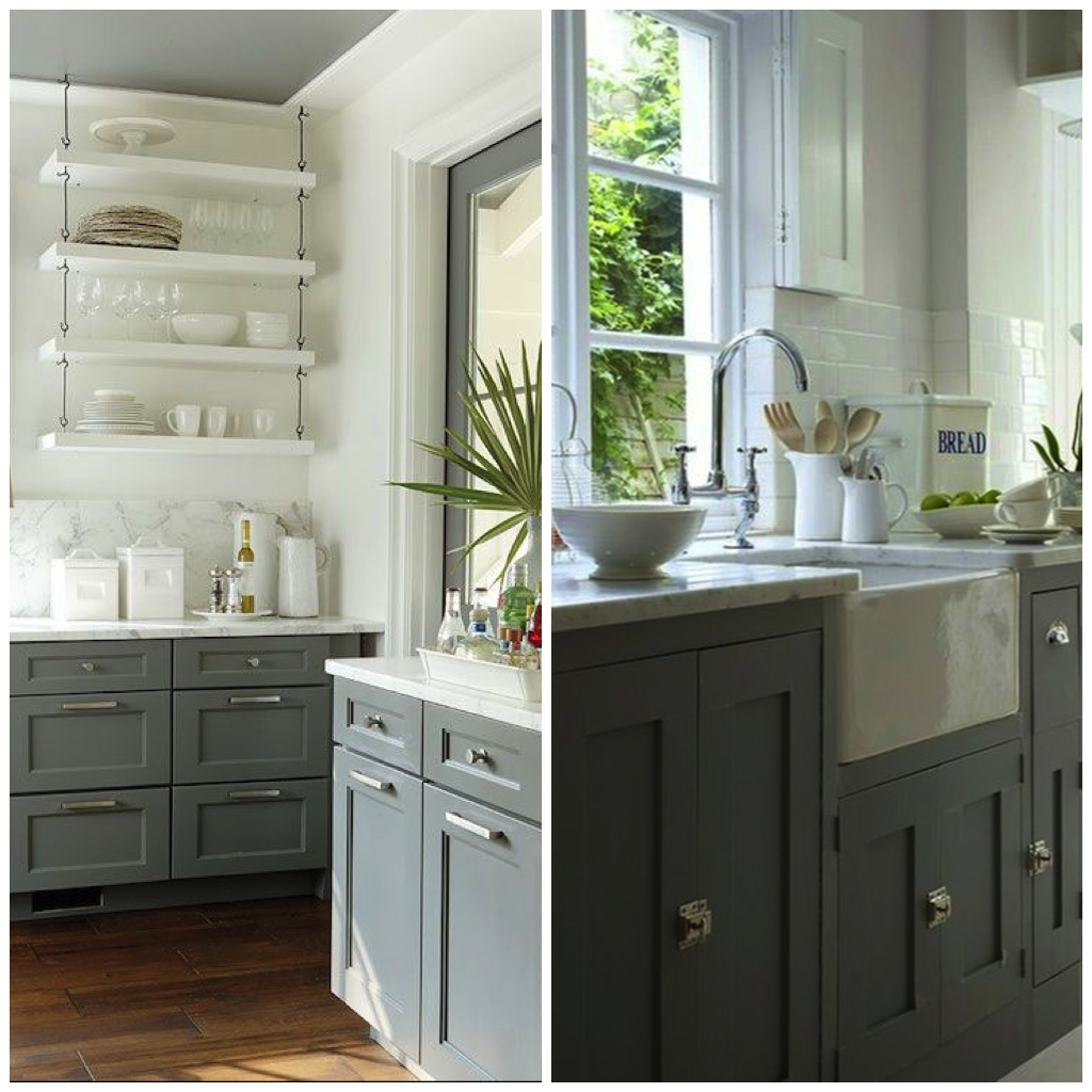 6 Gray Shades for a Kitchen That Are Surprising #bluegreykitchens