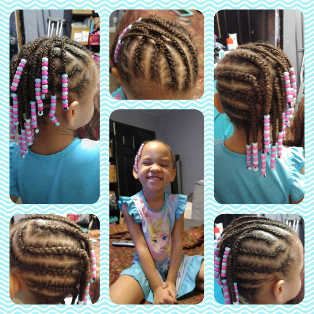 My year oldus simple side mohawk with beads hair pinterest