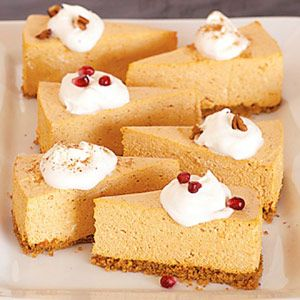 No-Bake Pumpkin Cheesecake ~~ DiabeticLivingRecipes