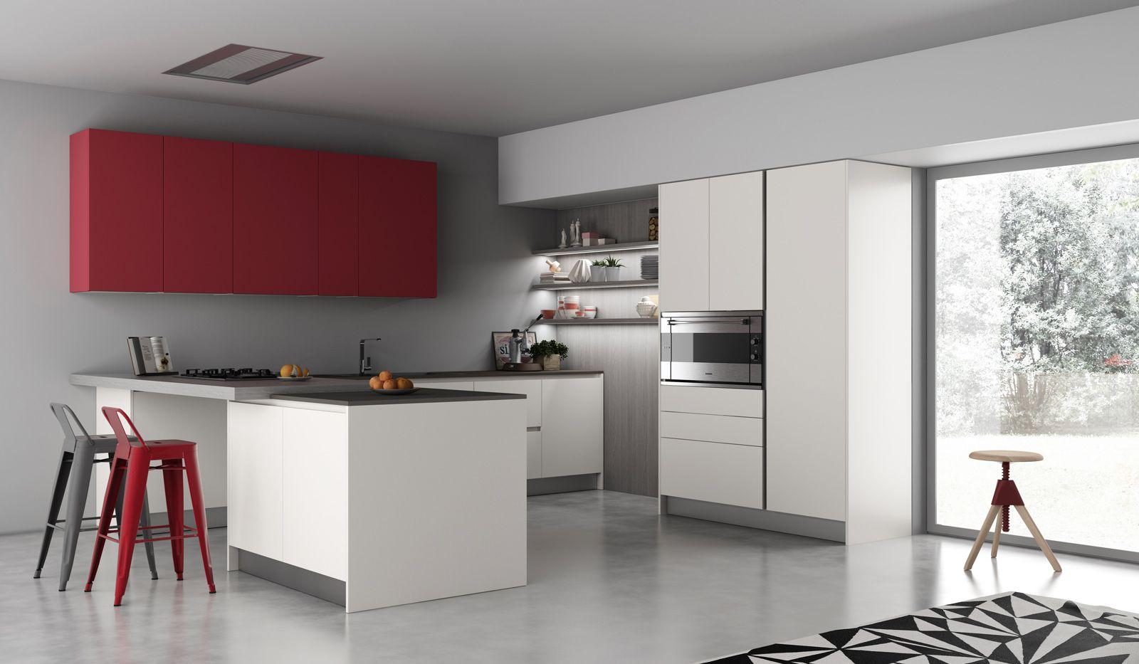 Cucina panna e ciliegio - Cucine ciliegio moderne ...