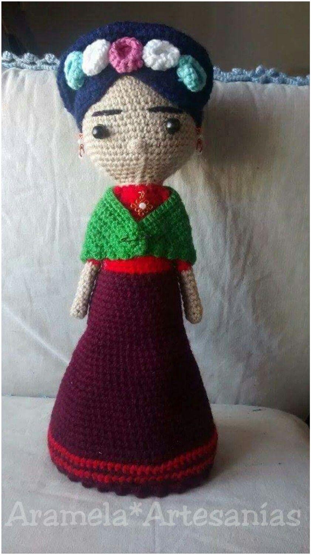 Resultado de imagen para frida kahlo crochet patron | Needles ...