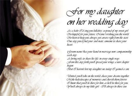 Mother To Daughter Wedding Day Quotes