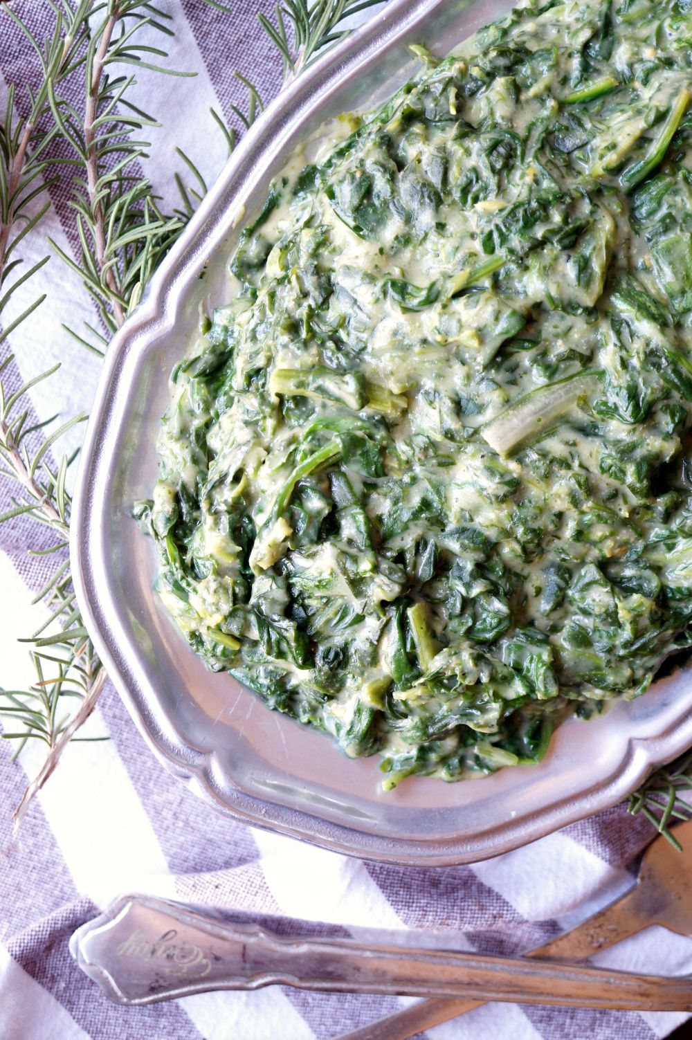 Vegan Creamed Greens Spinach Kale And Chard