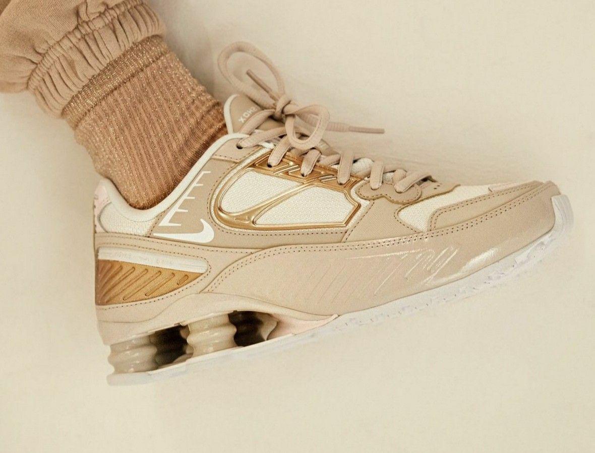 Nike Womens Shox Enigma 9000 Trainer | Desert Sand / White ...