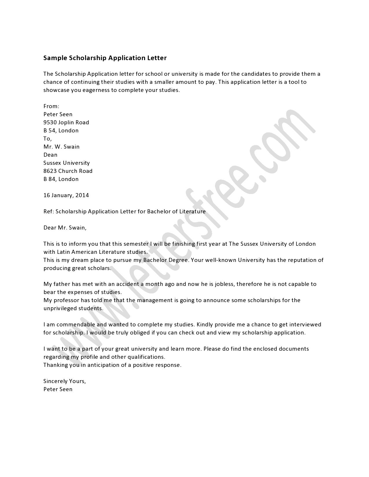 A scholarship application letter is essential if a student wishes a scholarship application letter is essential if a student wishes to get some financial assistance through thecheapjerseys Images