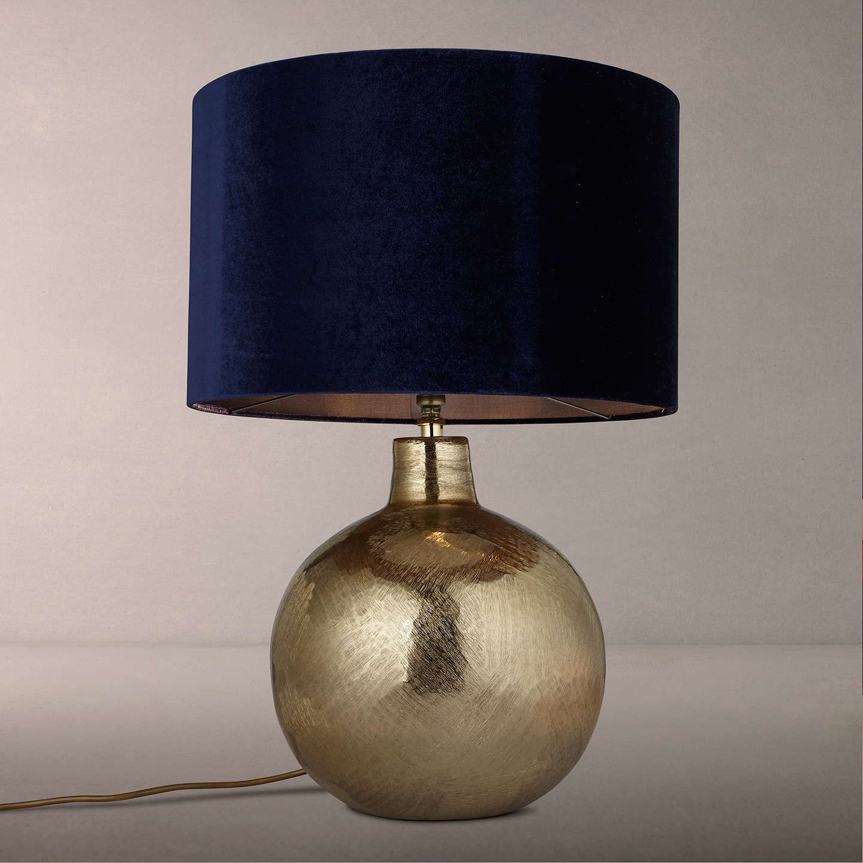John Lewis & Partners Pari Etched Globe Lamp Base, Gold