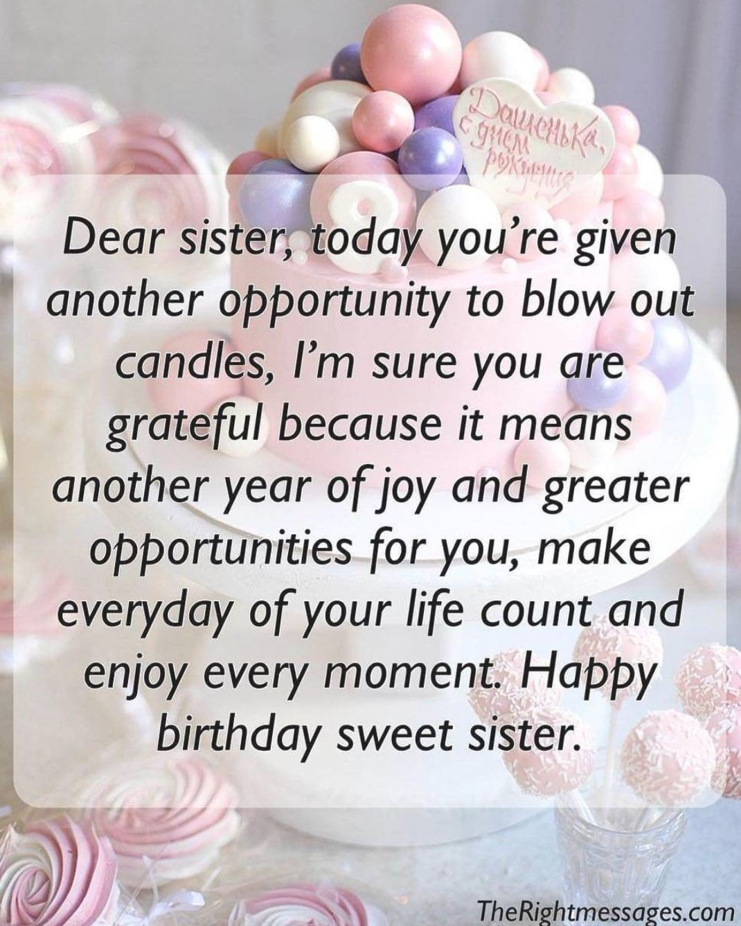 Pin By Shieulyn On Birthday Wishes Long Birthday Wishes For Sister Wishes For Sister Long Birthday Wishes Best of happy birthday to my sister