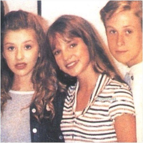 baby christina, britney, and ryan Gosling  ~ mickey mouse club