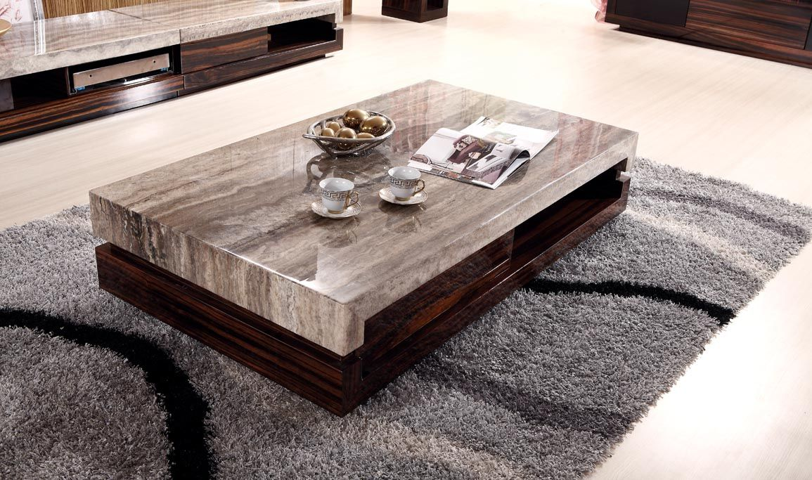 Newland Modern Marble Top Coffee Table And End K 028a
