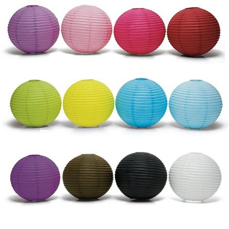Round Paper Lanterns :: Perfect for Ceiling Décor or Centerpieces